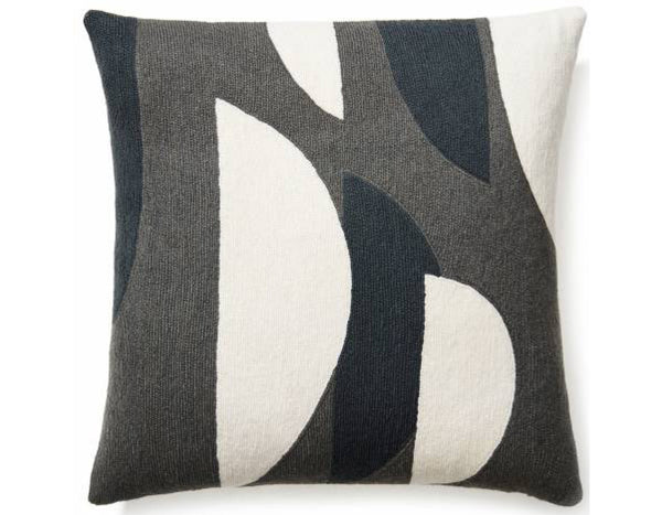 Judy  Ross Textiles - Slice - Dark Grey/Charcoal/Cream
