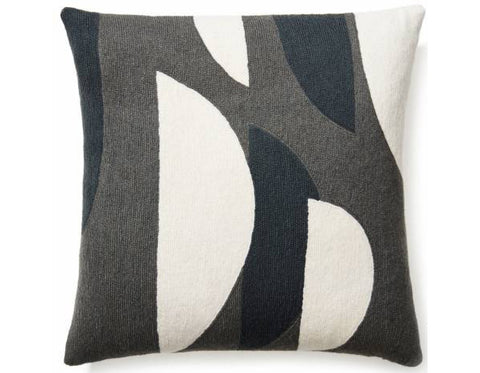 Judy Ross Textiles - Totem - Dark Grey/Cream/Charcoal