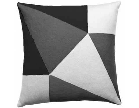 Judy  Ross Textiles - Prism - Cream/Dark Grey/Charcoal
