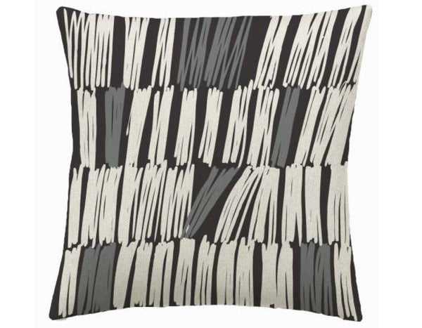 Judy Ross Textiles - Static - Charcoal/Cream/Dark Grey