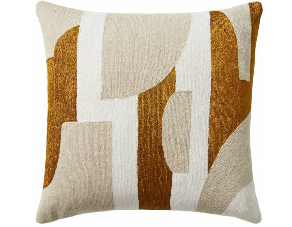 Composition Embroidered Cushion | Judy Ross