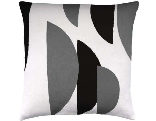 Judy  Ross Textiles - Slice - Cream/Dark Grey/Charcoal