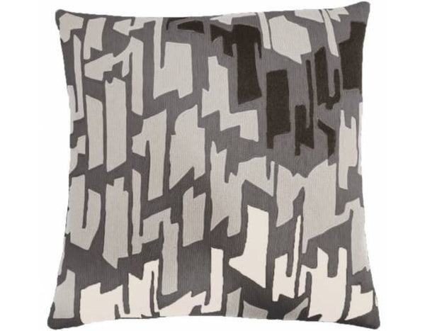 Judy Ross Textiles - Ikat - Dark Grey/Ice/Charcoal/Cream