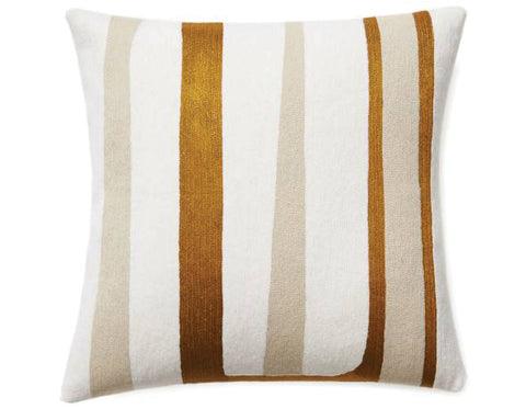 Judy Ross Textiles - Stripe - Cream/Oyster/Gold Rayon
