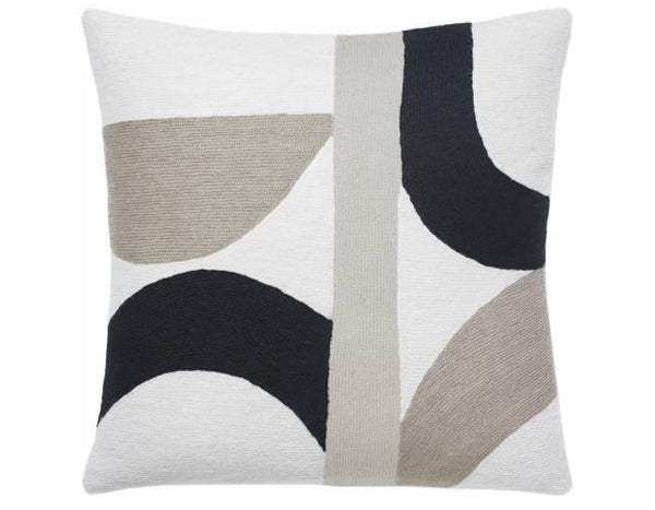 Judy Ross Textiles - Eclipse - Cream/Black/Smoke/Oyster