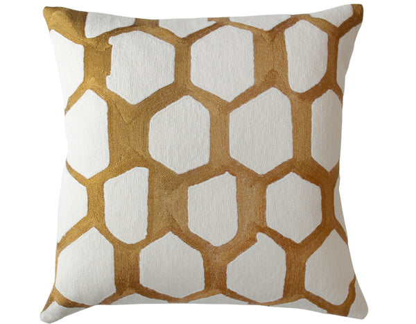 Judy Ross Textiles - Quartz -Gold Rayon/Cream