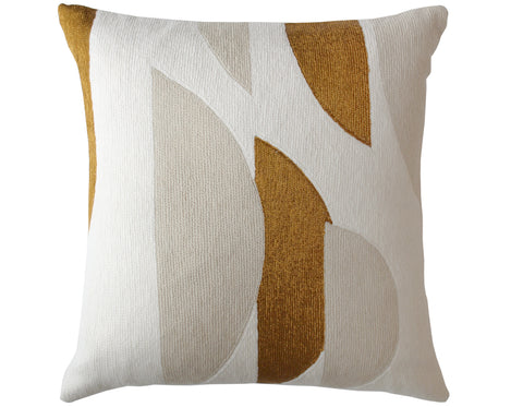 Judy Ross Textiles - Slice - Cream/Gold Rayon/Oyster