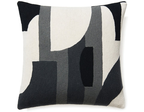 Judy  Ross Textiles -Composition - Black/Dark Grey/Charcoal/Cream