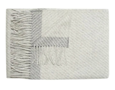 Linen Way - Montreal Baby Alpaca Throw - Charcoal Herringbone