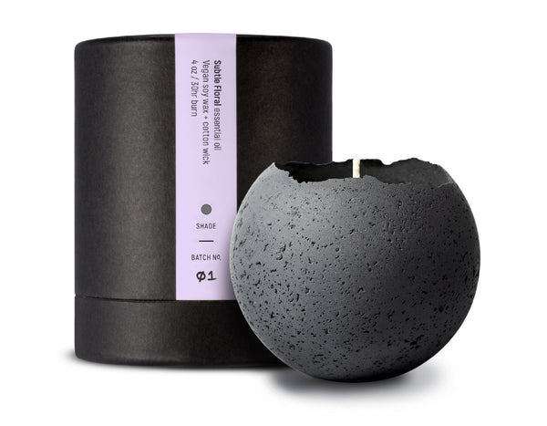 Konzuk - Orbis Large Concrete Candle - Charcoal