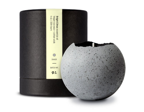 Konzuk - Orbis Large Concrete Candle - Natural