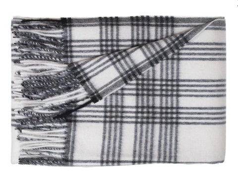 Linen Way - Pierre Tea Towel - Charcoal With White Stripes