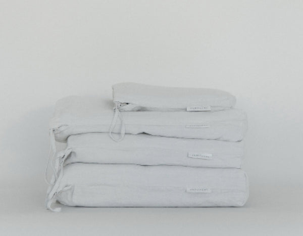 Last Light Collection - 100% Linen Bed Collection - Fog