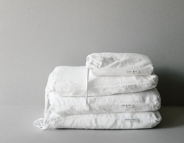 Last Light Collection - 100% Linen Bed Collection - White