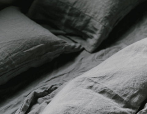Last Light Collection - 100% Linen Bed Collection - Driftwood Grey