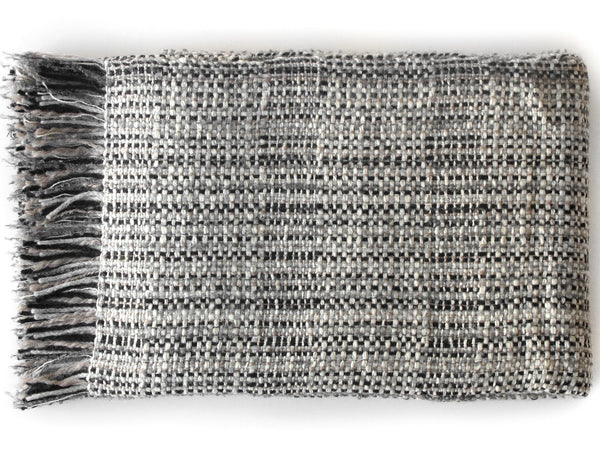 Linen Way - Kelowna Throw - Black, Grey & Ivory