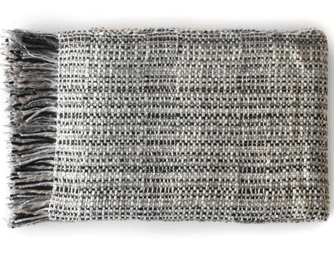 Linen Way - Lincoln Throw - Black With White Checks