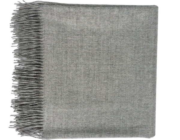 Linen Way - Paris Baby Alpaca Throw - Light Grey