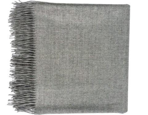 Linen Way - Duet Napkin - White w/ Silver Stitch