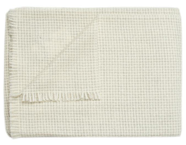 Linen Way - Rossland Throw - Ivory