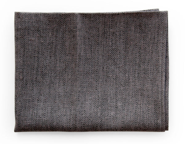 Linen Way - Ricardo Tea Towel - Grey Herringbone