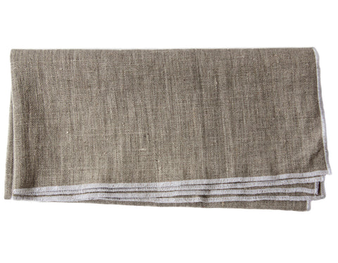 Linen Way - Duet Napkin - Natural & White Stitch
