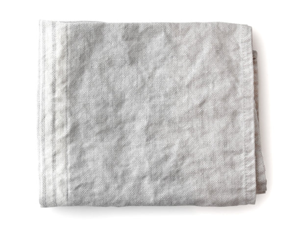 Linen Way - Maison Tea Towel - Grey w/White Stripe