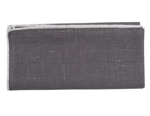Linen Way - Duet Napkin - Grey w/ White Stitch