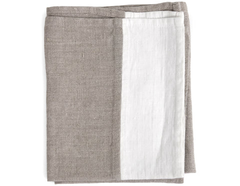 Linen Way - Whitehorse Throw - Ivory/Dark Grey