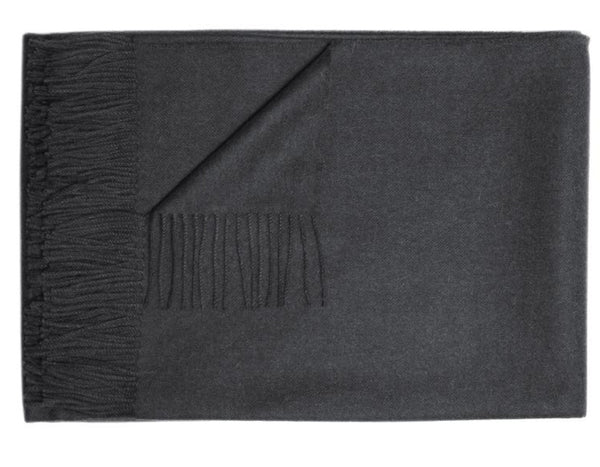 Linen Way - Paris Baby Alpaca Throw - Charcoal