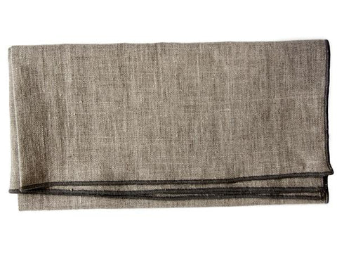Linen Way - Duet Collection - Natural w/ Charcoal Stitch
