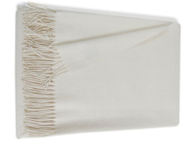 Linen Way - Paris Baby Alpaca Throw - Ivory