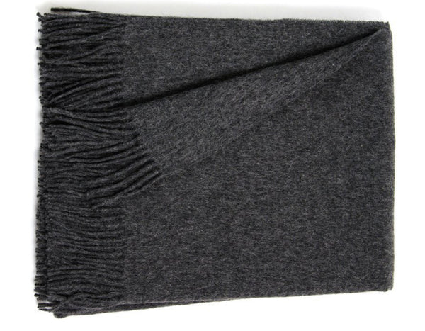 Linen Way - Bern Solid Throw - Charcoal