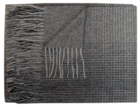 Forestry Wool - Moon 100% Lambswool Throw - Grey