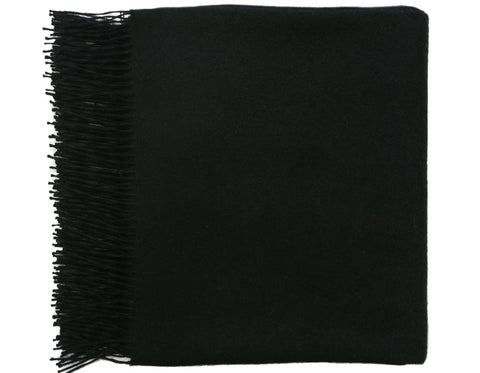 Linen Way - Paris Baby Alpaca Throw - Black