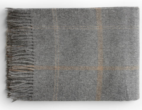 Linen Way - Oxford Throw - Charcoal