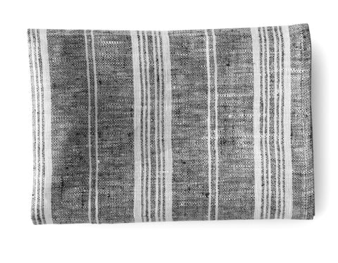 Linen Way - Pierre Tea Towel - Charcoal w/ White Stripes