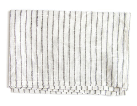 Linen Way - Arman Tea Towel - Ivory with Taupe Stripe
