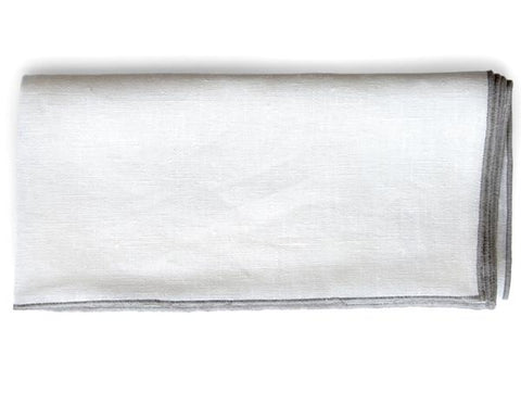 Linen Way - St.Louis Linen Cushion - Ivory/Lava