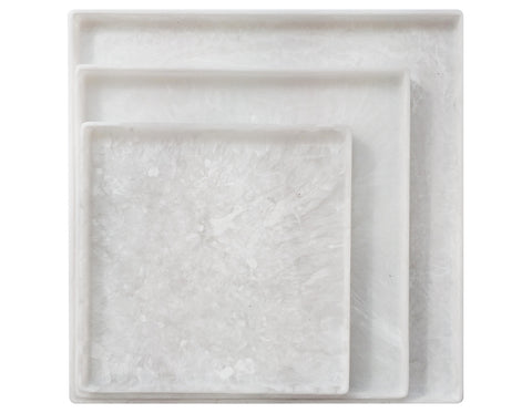 Martha Sturdy - Chief Cube Stool - White Marble & Charcoal