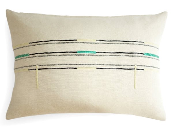 Mille et Claire - Sema Organic Cotton Collection - White Amazonite Cushion