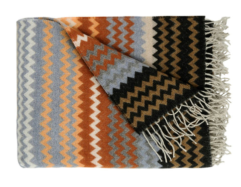 Teixidors - Criss-Cross 2 Throw - Terracotta/Off-White