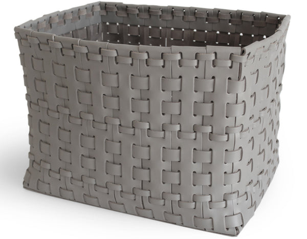 Oscar Maschera - Rectangular Woven Basket - Grey