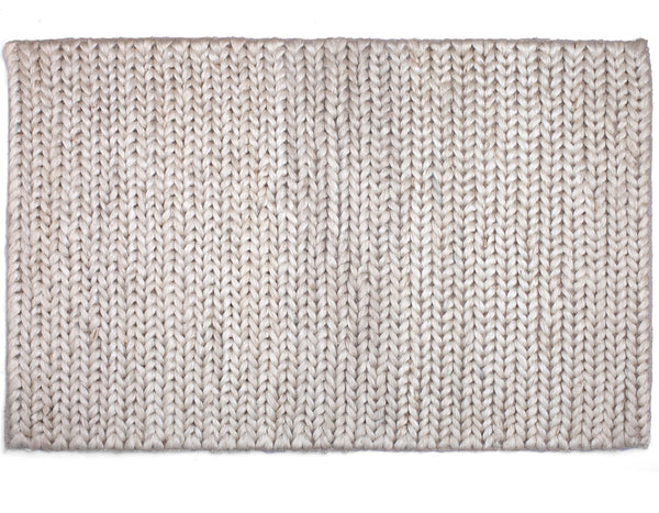 Provide Rugs - Chunky Braided Jute Doormat - White