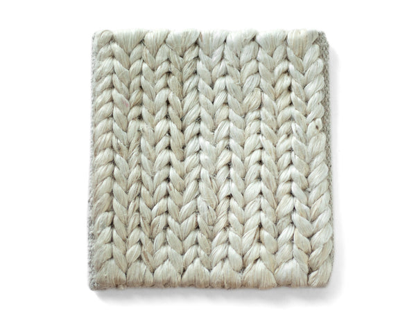 Chunky Braided Jute Rug in White | Provide Rugs