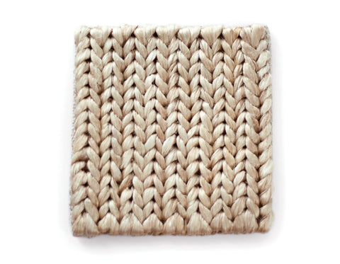 Provide Rugs - Skinny Braided Jute Doormat - White