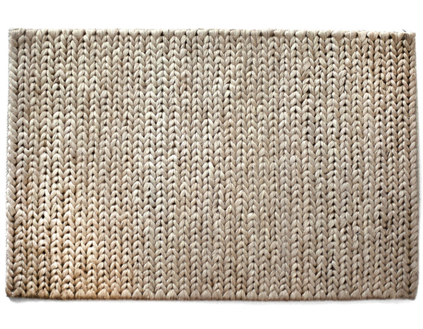 Chunky Braided Jute Doormat in Natural | Provide
