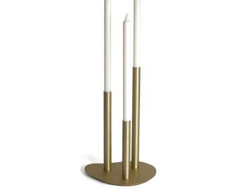 Quake - PoLite Collection Candleabra - Brass