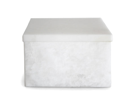 ROOM - Pitti Box w/ Reversible Lid - Alabaster