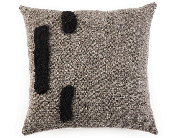 Agnes Wool Cushion in Grey | Sien + Co